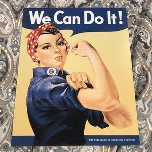 Rosie the Riveter metal sign